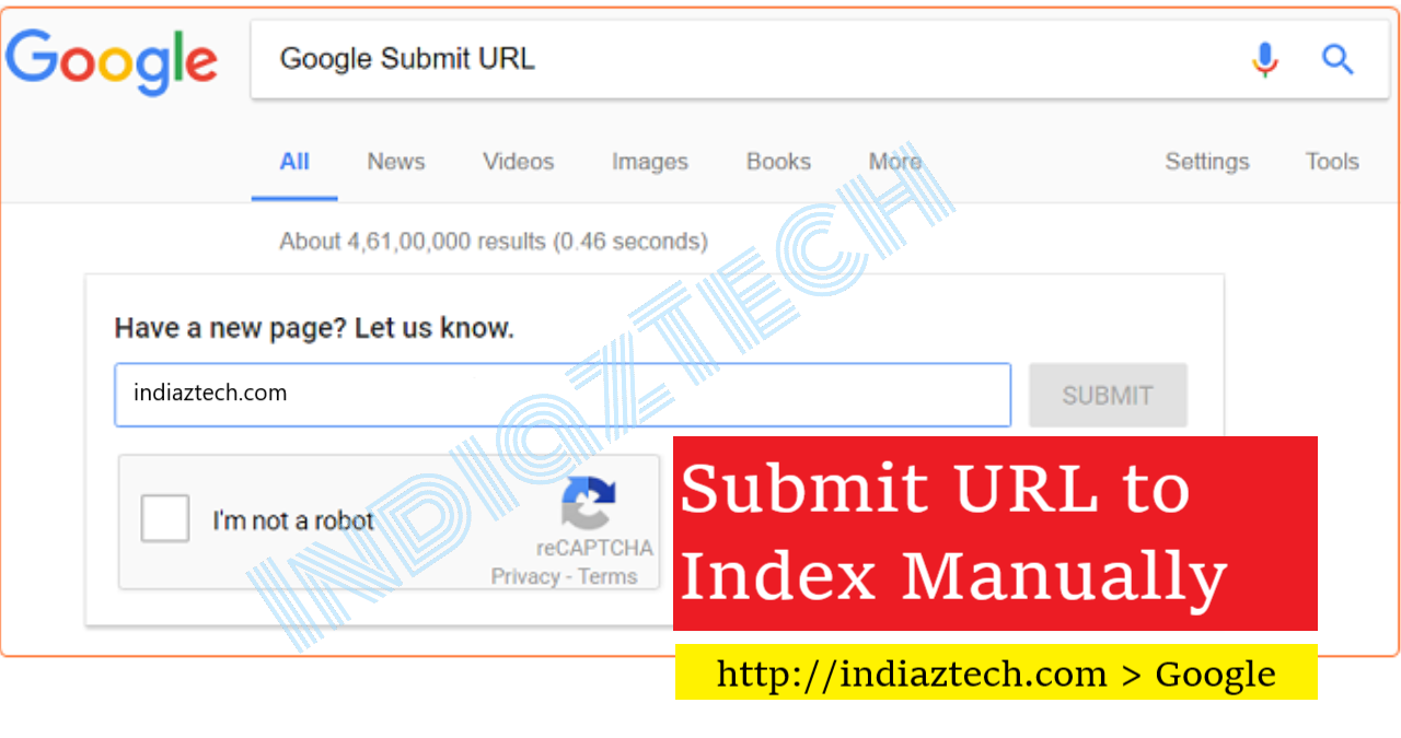 submit url to google for crawl fast