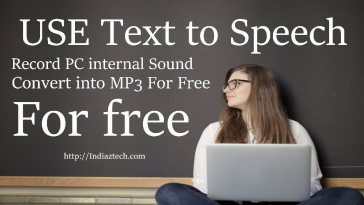 reocrd pc internal sound text to speech covert to mp3 for free
