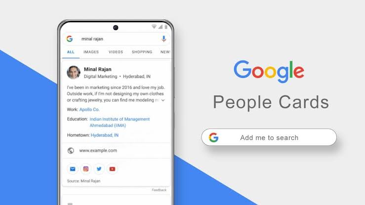 Google people card india