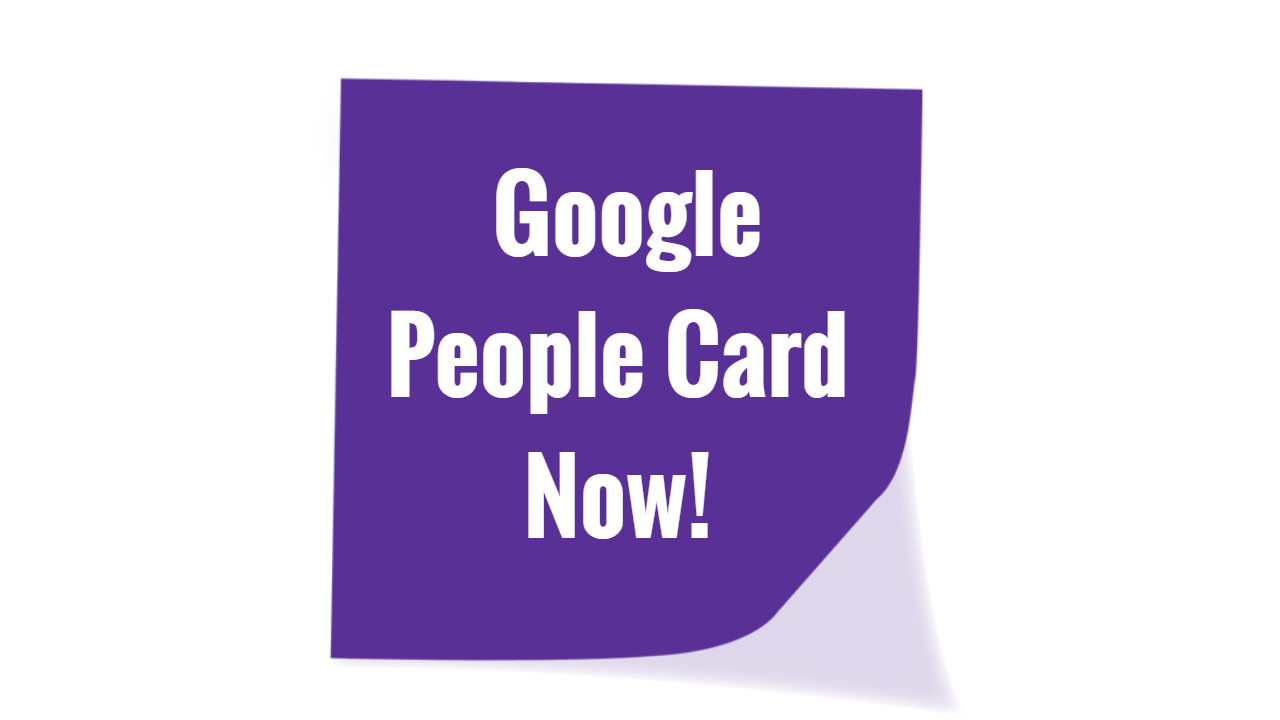 Google people card
