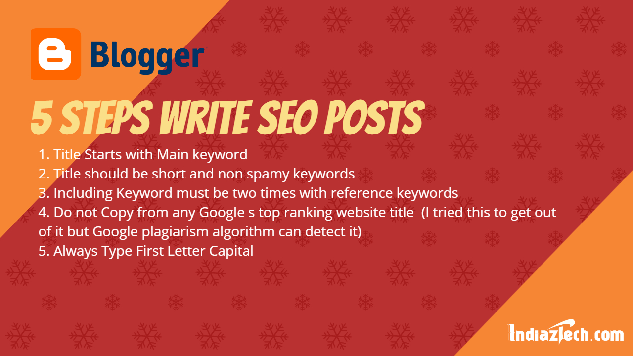 Blogger SEO post article