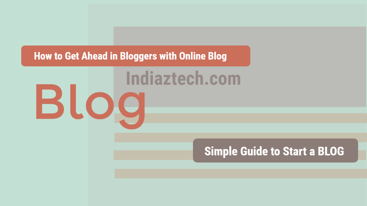 Start a blog in inda